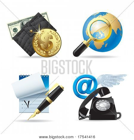 Raster version of vector set of computer & web icons I