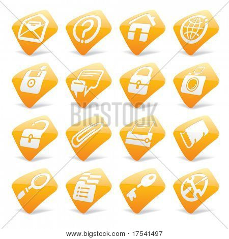 Vector orange website and internet icons 1