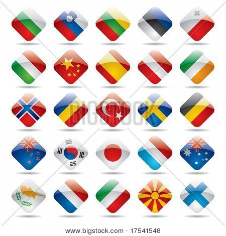 Vector set Welt-Flaggen-Icons 2