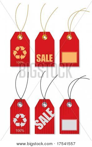 Vector set of price tags