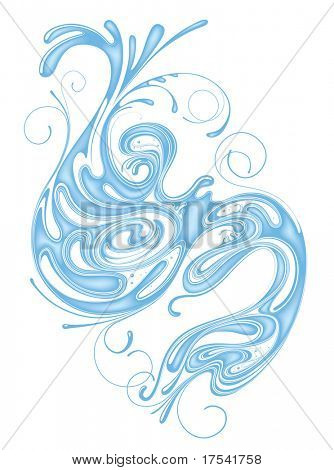 Vector whorl of water