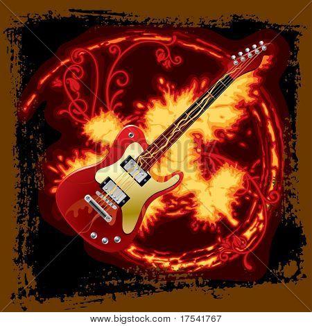 Guitarra eléctrica de Vector fuego