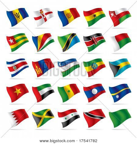 Vector set of world flags 5