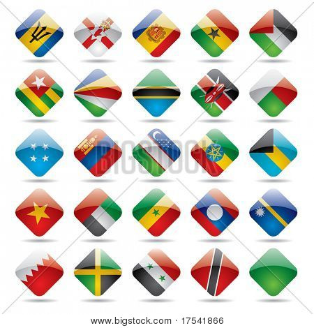 Vector set de ícones de bandeira do mundo 5