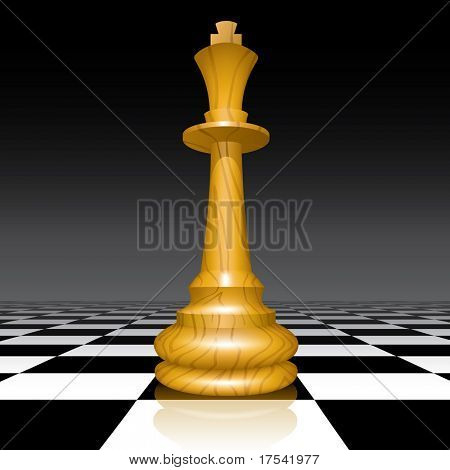 Vector chessman on a chessboard