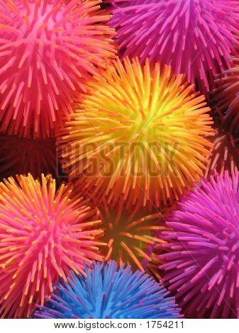 Neon Puffer Balls