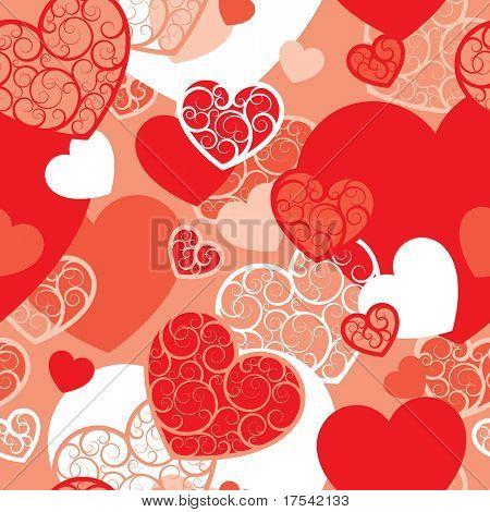 Raster version of vector valentine background (seamless pattern)