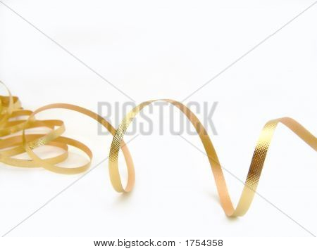 Gold Ribbon On White