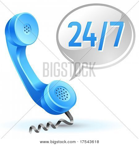 Support Symbol der Center-Anruf 24 Stunden 7 Tage