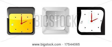 ícones de relógio (imagem raster)