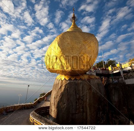 Golden Rock stupa in  Myanmar.