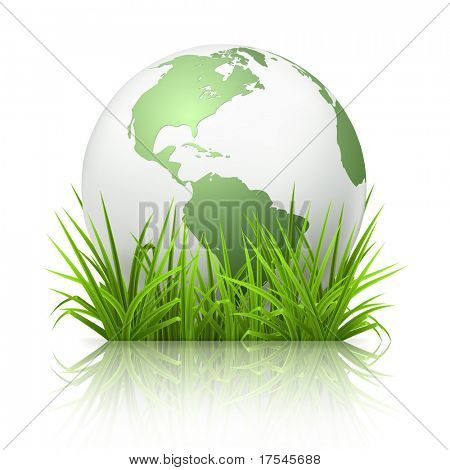 Globe on grass, 10eps
