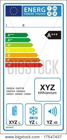 Energy rating graph label