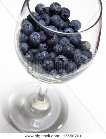 Photo Of Blueberries In A Glass