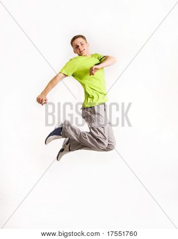 Stylish young man isolated over white