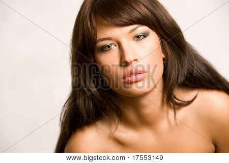 Pretty young naked woman portrait