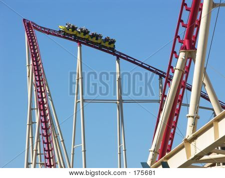 Roller Coaster Going Up