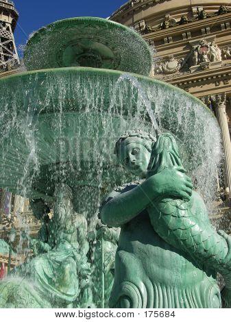 Fountain Female Figure Holding Fish