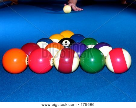 Billiards - Racked Balls, Ready To Break