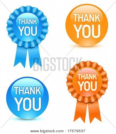 appreciate or thank you award buttons
