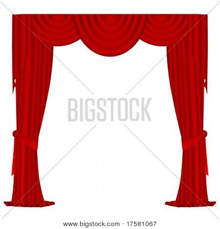 Red Velvet Curtains (Vector)