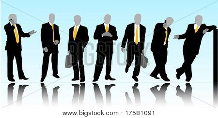Business silhouettes (vector)