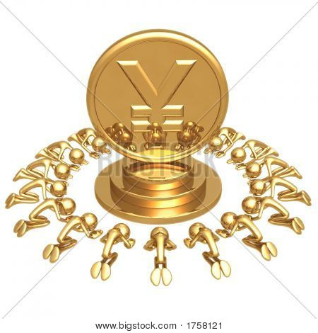 Yen Gold Coin Worship