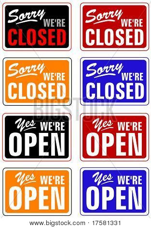 CLOSED AND OPEN (vector)