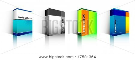 Software box (vector)