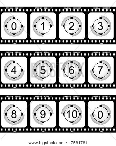 Countdown and film (vector)