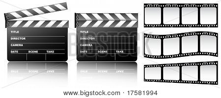 Film and clapboard (vector)
