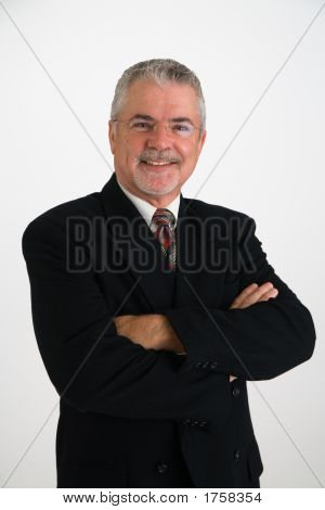 Executive In Suit Smiling
