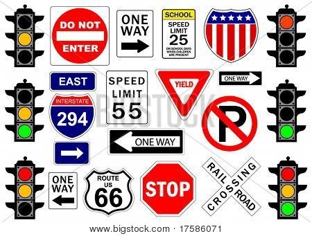 Road and highway signs
