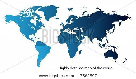 Highly detailed map of the world (vector)