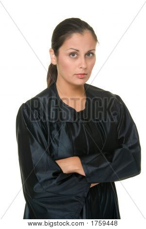 Beautiful Hispanic Woman Judge 1