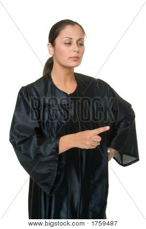 Beautiful Woman Judge Pointing