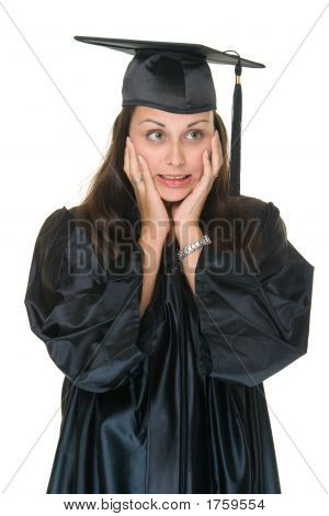 Very Excited Young Woman Graduate 3