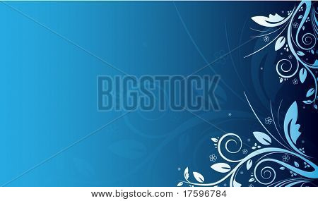 Blue floral background with place for your text