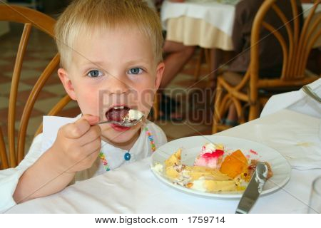 Boy Eating Icecream