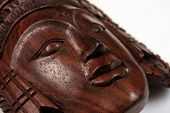 pic of sita  - A Balinese wooden craft of Sita isolated over white background.  - JPG
