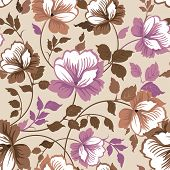 Abstract Elegance seamless floral pattern. Beautiful flower vector illustration texture