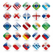 stock photo of saudi arabia  - Vector set world flag icons 1 - JPG