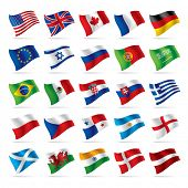 Isolated raster version of vector set of world flags 1 (contain the Clipping Path of all objects)