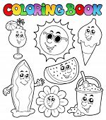 picture of summer fun  - Coloring book with summer pictures  - JPG