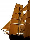 stock photo of tall ship  - A wood model ship - JPG