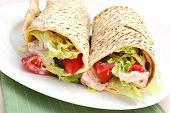 pic of sandwich wrap  - Chicken wrap sandwich  - JPG