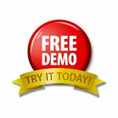 Red Button With Words free Demo - Try It Today poster