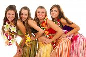 image of hawaiian girl  - Beautiful hawaiian Hula Dancer Girls - JPG