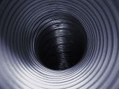 picture of breather  - Dark interior of a steel air tube - JPG