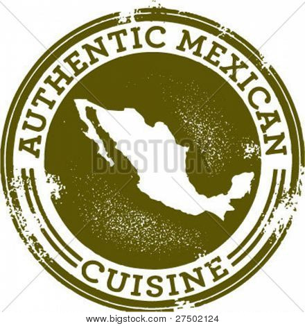Classic Authentic Mexican Food Stamp